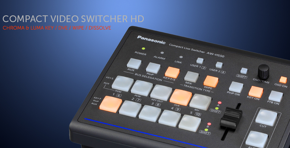 Switcher HD - Chroma key / Dissolve - Compacto - 220V / 12V