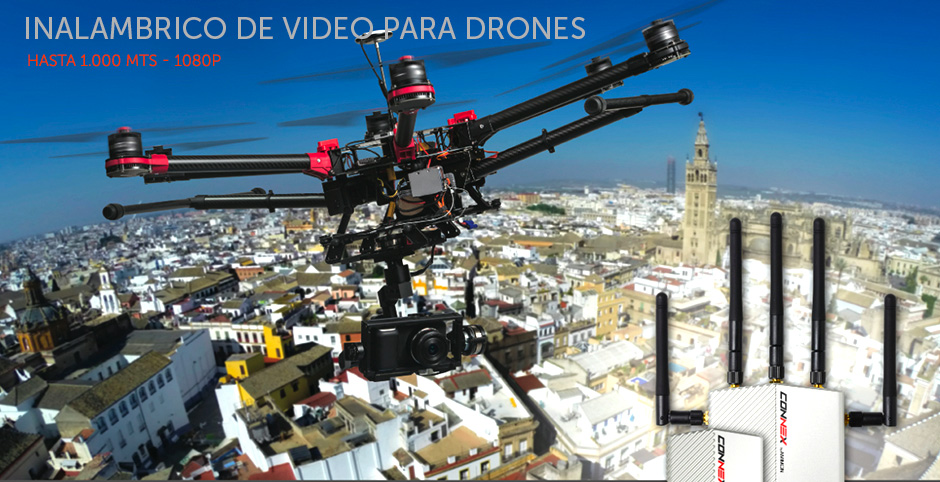 Transmisor de video inalámbrico HD para drones - 1.000 mts