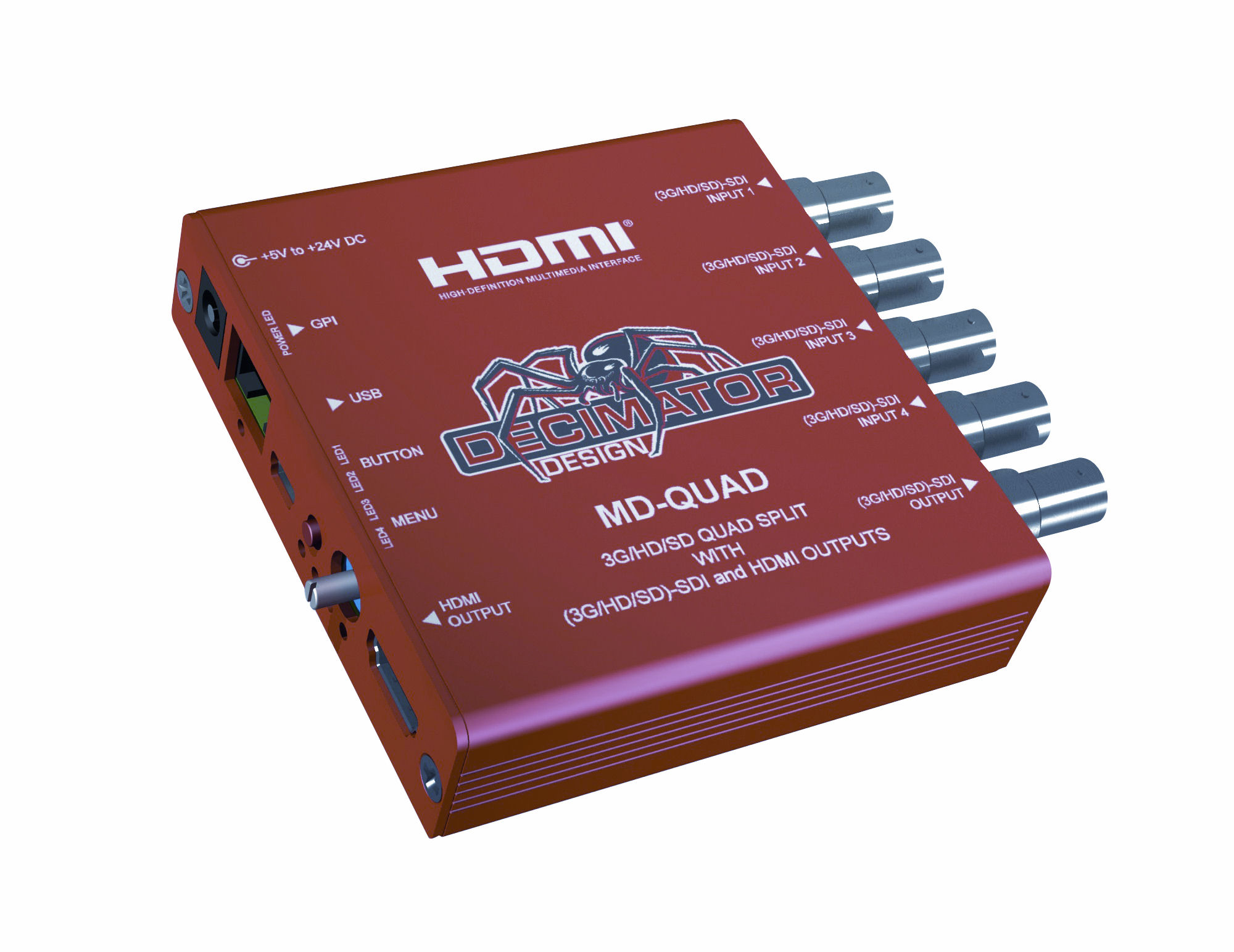 3G/HD/SD-SDI Quad Split